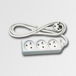 EMOS Prodlužovací kabel 3 zásuvky bílý  3m KL870303