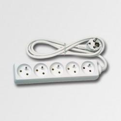 EMOS Prodlužovací kabel 5 zásuvek bílý 5m KL870593