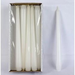 BARTEK CANDLES Svíčka klasik konická 2,1x25 cm - Bílá