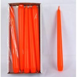 BARTEK CANDLES Svíčka klasik konická 2,1x25 cm - Oranžová