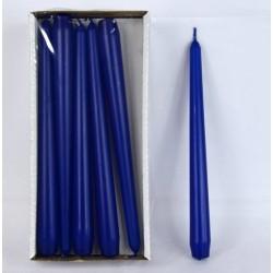 BARTEK CANDLES Svíčka klasik konická 2,1x25 cm - Modrá