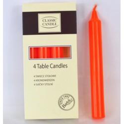 Svíčka klasiká stolní 21x170 mm - Oranžová
