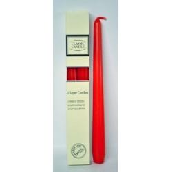 BARTEK CANDLES Svíčka klasik konická 2,1x25 cm - Červená