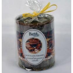 BARTEK CANDLES Svíčka rustikální vonná válec 70x90 mm - Chocolate