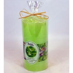 BARTEK CANDLES Svíčka rustikální vonná válec 70x140 mm - Green tea