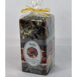 BARTEK CANDLES Svíčka rustikální vonná hranol 70x70x140 mm - Chocolate