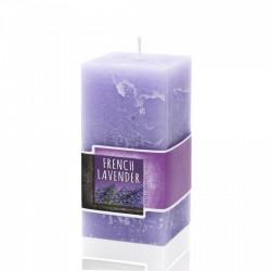 BARTEK CANDLES Svíčka rustikální vonná hranol 70x70x140 mm - Lavender