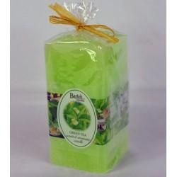 BARTEK CANDLES Svíčka rustikální vonná hranol 70x70x140 mm - Green tea