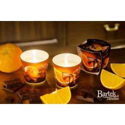 BARTEK CANDLES Svíčka vonná v konickém skle 9 x 8,5 cm - Čokoláda / Pomeranč
