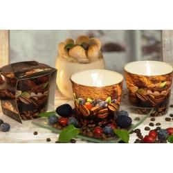 BARTEK CANDLES Svíčka vonná v konickém skle 9 x 8,5 cm - Coffee Time/Coffe & tiramisu