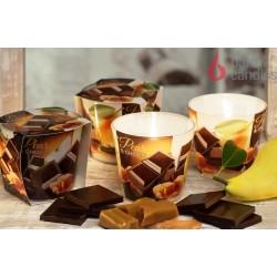 BARTEK CANDLES Svíčka vonná v konickém skle 9 x 8,5 cm - CHOCO Pear