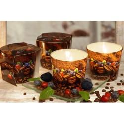 BARTEK CANDLES Svíčka vonná v konickém skle 9 x 8,5 cm - Coffee Time/Coffe & blueberry