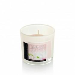 BARTEK CANDLES Svíčka vonná v barevném skle 7,5 x 6,5cm, Nature Candle - Charming Magnolia