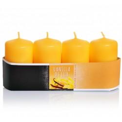 BARTEK CANDLES Svíčka klasik válec vonná 4x7 cm sada/4ks - Vanilla De Lux