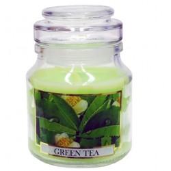BARTEK CANDLES Svíčka vonná ve skleněné dóze s víkem 7 x 10 cm, Good As Nature  - Zelený čaj