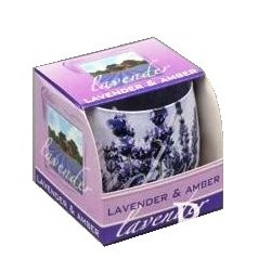 BARTEK CANDLES Svíčka vonná ve skle Lavender - Amber
