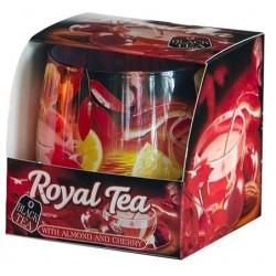 BARTEK CANDLES Svíčka vonná ve skle Royal Tea - Red