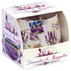 BARTEK CANDLES Svíčka vonná ve skle  Lavender Romance - Magnolia