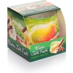 BARTEK CANDLES Svíčka vonná ve skle Winter Tutti Frutti - Green
