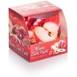 BARTEK CANDLES Svíčka vonná ve skle Winter Tutti Frutti - Red