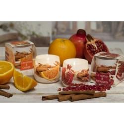 BARTEK CANDLES Svíčka vonná ve skle Cinnamon - Orange & Granátové jablko