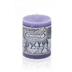 BARTEK CANDLES Svíčka dekorativní zdobená reliéfem Lavender BOUTIQUE - válec 70x90 mm