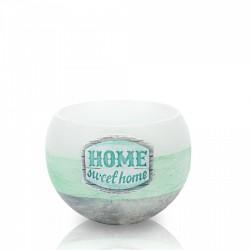 BARTEK CANDLES Svíčka dekorativní HOME sweet home - lampion koule  120 mm