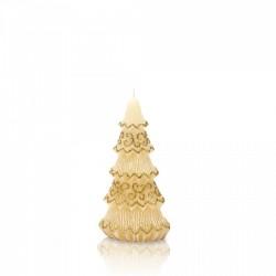 BARTEK-CANDLES Svíčka dekorativní FESTIVAL TREE - vánoční stromek 160 mm - Okrová
