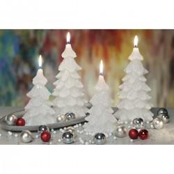 BARTEK-CANDLES Svíčka dekorativní vánoční stromek - CHRTISTMAS TREE 80x150 mm - Bílá