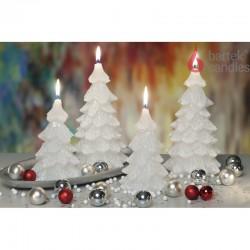 BARTEK-CANDLES Svíčka dekorativní vánoční stromek - CHRTISTMAS TREE 110x210 mm - Bílá