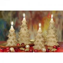 BARTEK-CANDLES Svíčka dekorativní vánoční stromek - CHRTISTMAS TREE 110x210 mm - Zlatá