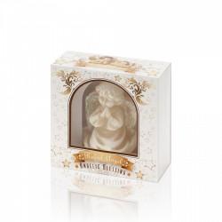 BARTEK-CANDLES Svíčka dekorativní ve tvaru anděla - RAFAEL 85mm v krabičce - Okrová /MIX