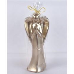 BARTEK-CANDLES Svíčka dekorativní vánoční Anděl - figurka 165mm lakovaný - Cappuccino