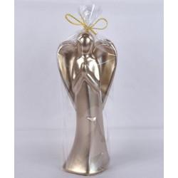 BARTEK-CANDLES Svíčka dekorativní vánoční Anděl - figurka 205mm lakovaný - Cappuccino
