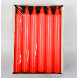 Svíčka klasik válec 2,1x17 cm - Červená