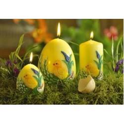 BARTEK CANDLES Svíčka velikonoční vajíčko 70x100mm - kuřátko