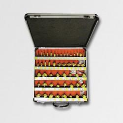 STAVTOOL Sada tvarových fréz 50dílů AL kufr P11142