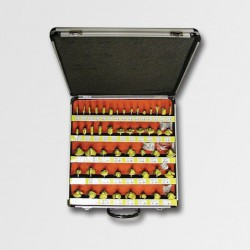 Sada tvarových fréz 50dílů AL kufr