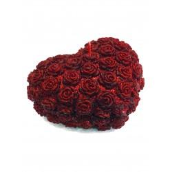BARTEK CANDLES Svíčka dekorativní srdce velké