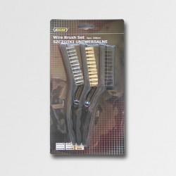 Sada kartáčů ocelových plast.rukojeť 3ks P11846