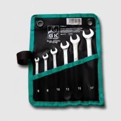 Sada klíčů očkopl. 8-17 mm 6 dílů chrom-obal