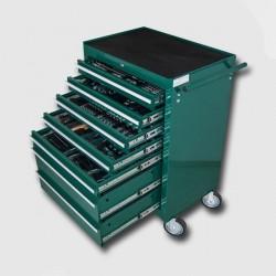 HONITON Montážní vozík na nářadí kovový vybavený 231dílů 680x458x860mm HA250