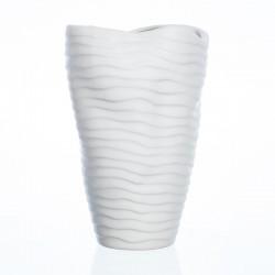 Váza ORGANIC bílá 23 x 14 cm SandraRich