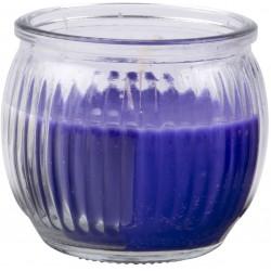 Svíčka vonná v barevném skle 6,3 x 7,1 cm - Fialová