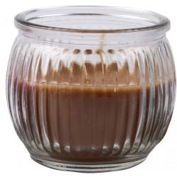 Svíčka vonná v barevném skle 6,3 x 7,1 cm - Hnědá