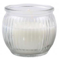 Svíčka vonná v barevném skle 6,3 x 7,1 cm - Bílá