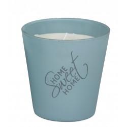 Svíčka vonná ve skle - Home sweet Home - Modro šedá - ARTI CASA