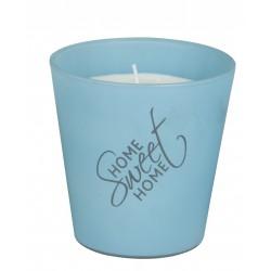Svíčka vonná ve skle - Home sweet Home - Modrá - ARTI CASA