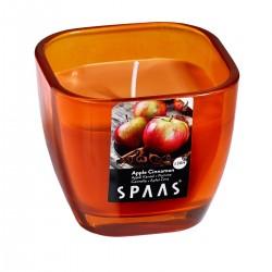 Svíčka vonná  ve skle 8,4x7,2cm skořice - SPAAS