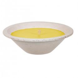 Svíčka terracotta šedá 18x8cm - Citronella  SPAAS